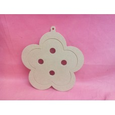 4mm MDF Button daisy shape